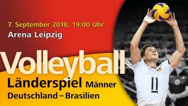 Volleyball Länderspiel Deutschland - Brasilien